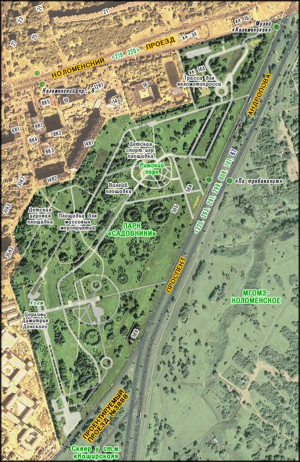 "Карта парка ""Садовники"""