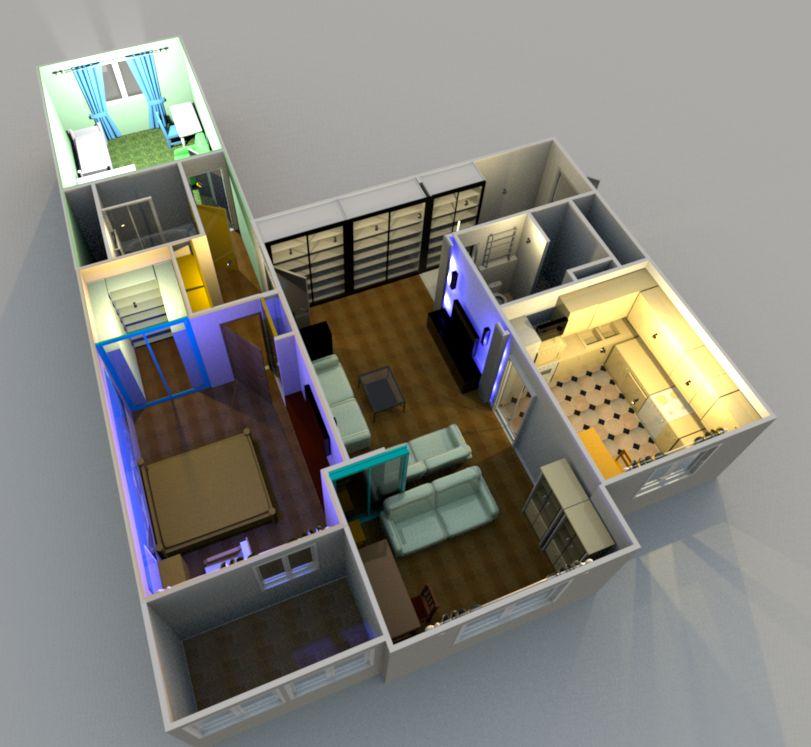 Перепланировка квартиры панельная хрущевка фото - Сделать